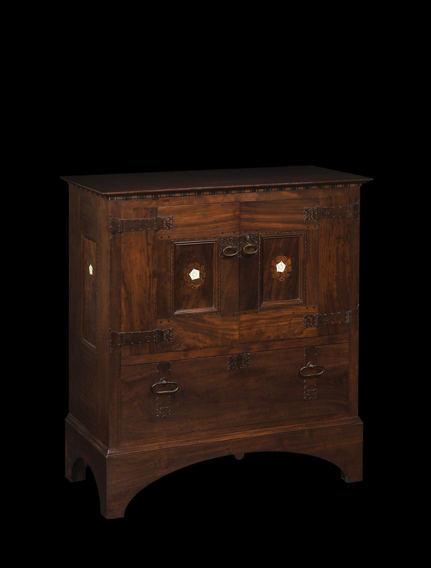 Edgar Wood Cabinet Ca 1897 Oscar Graf